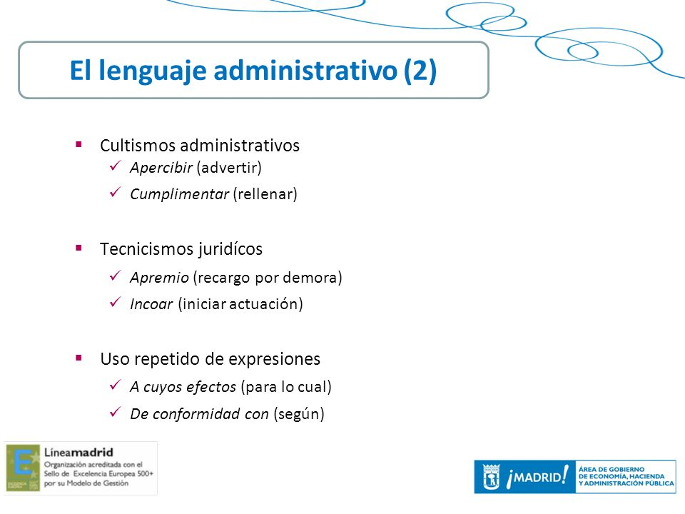 El lenguaje administrativo (2)