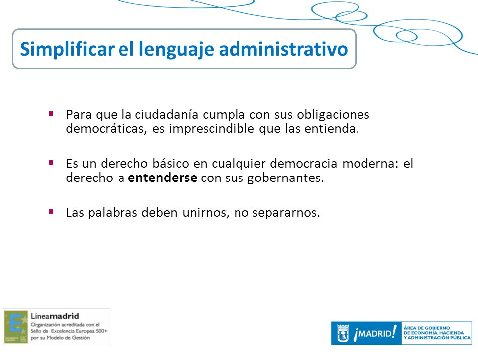 Simplificar el lenguaje administrativo