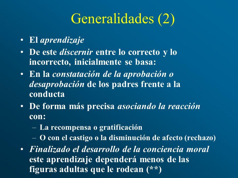 Generalidades (2) El aprendizaje