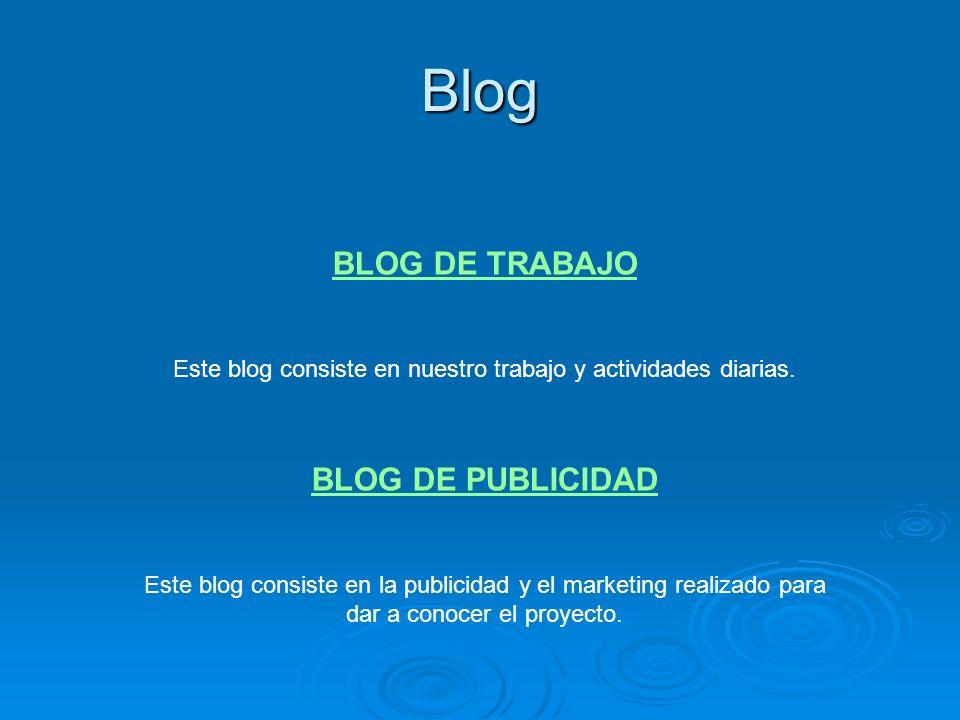 Este blog consiste en nuestro trabajo y actividades diarias.
