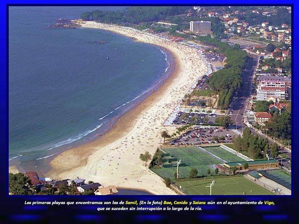 Las primeras playas que encontramos son las de Samil, (En la foto) Bao, Canido y Saians aún en el ayuntamiento de Vigo, que se suceden sin interrupción a lo largo de la ría.