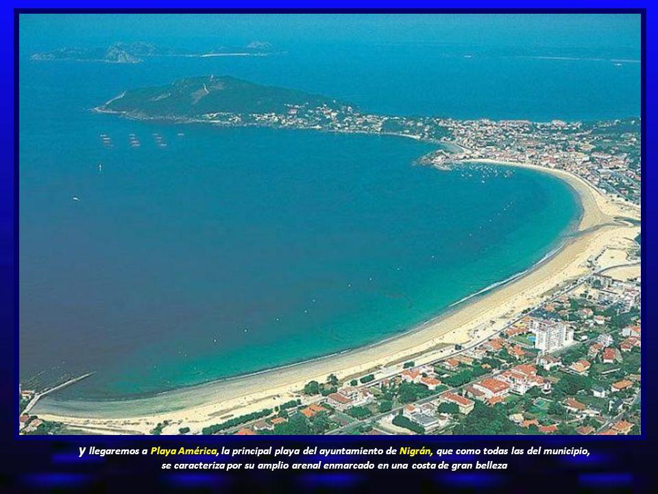 y llegaremos a Playa América, la principal playa del ayuntamiento de Nigrán, que como todas las del municipio, se caracteriza por su amplio arenal enmarcado en una costa de gran belleza