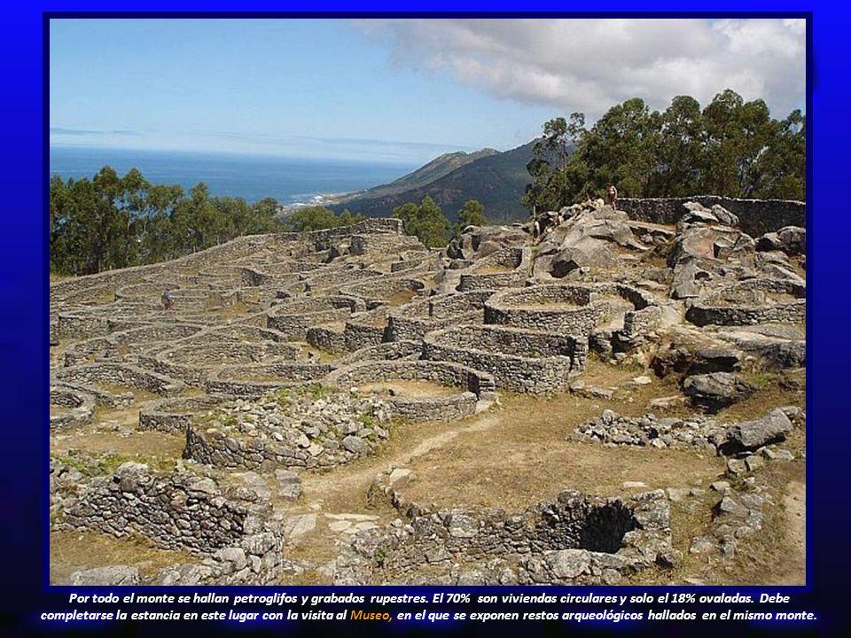 Por todo el monte se hallan petroglifos y grabados rupestres