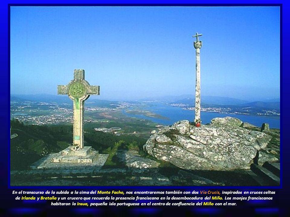 En el transcurso de la subida a la cima del Monte Facho, nos encontraremos también con dos Vía Crucis, inspirados en cruces celtas de Irlanda y Bretaña y un crucero que recuerda la presencia franciscana en la desembocadura del Miño.