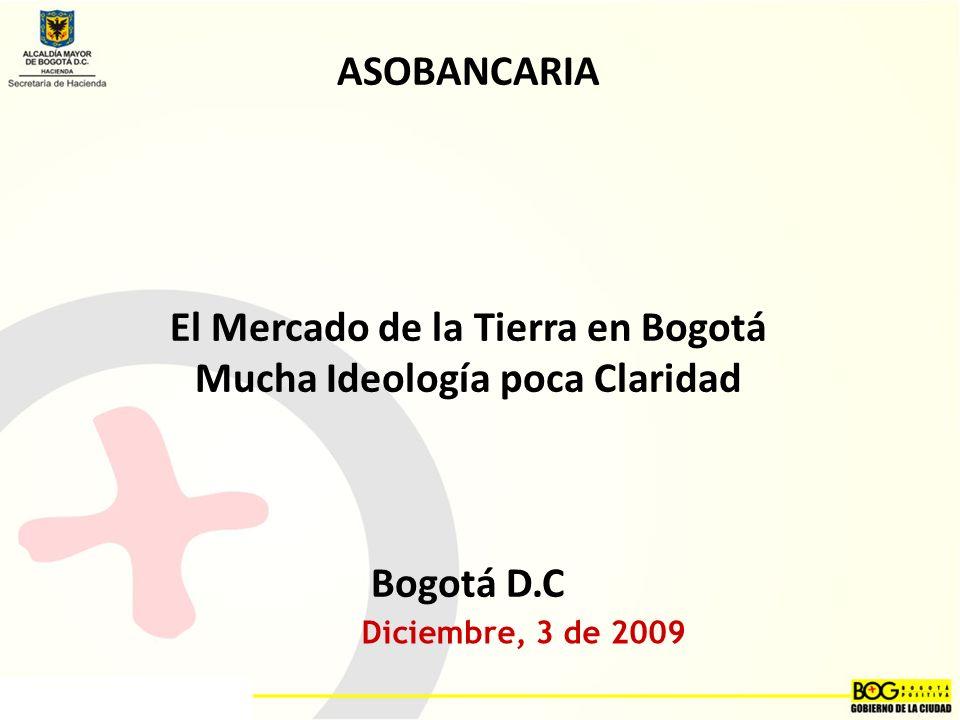 El Mercado de la Tierra en Bogotá Mucha Ideología poca Claridad
