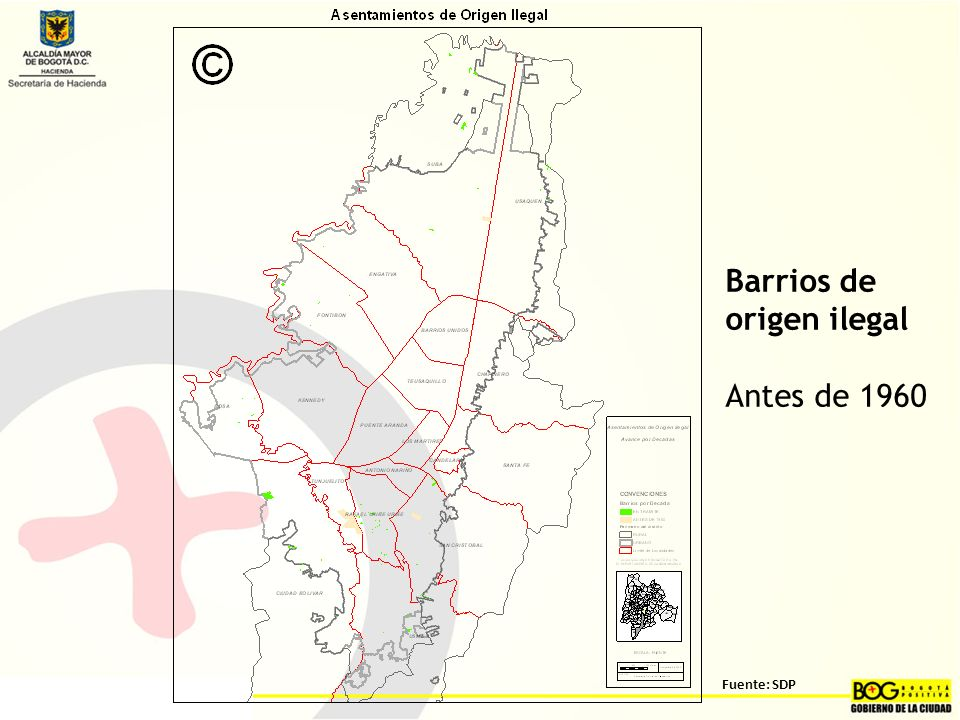Barrios de origen ilegal Antes de 1960