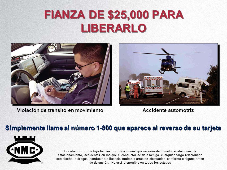 FIANZA DE $25,000 PARA LIBERARLO