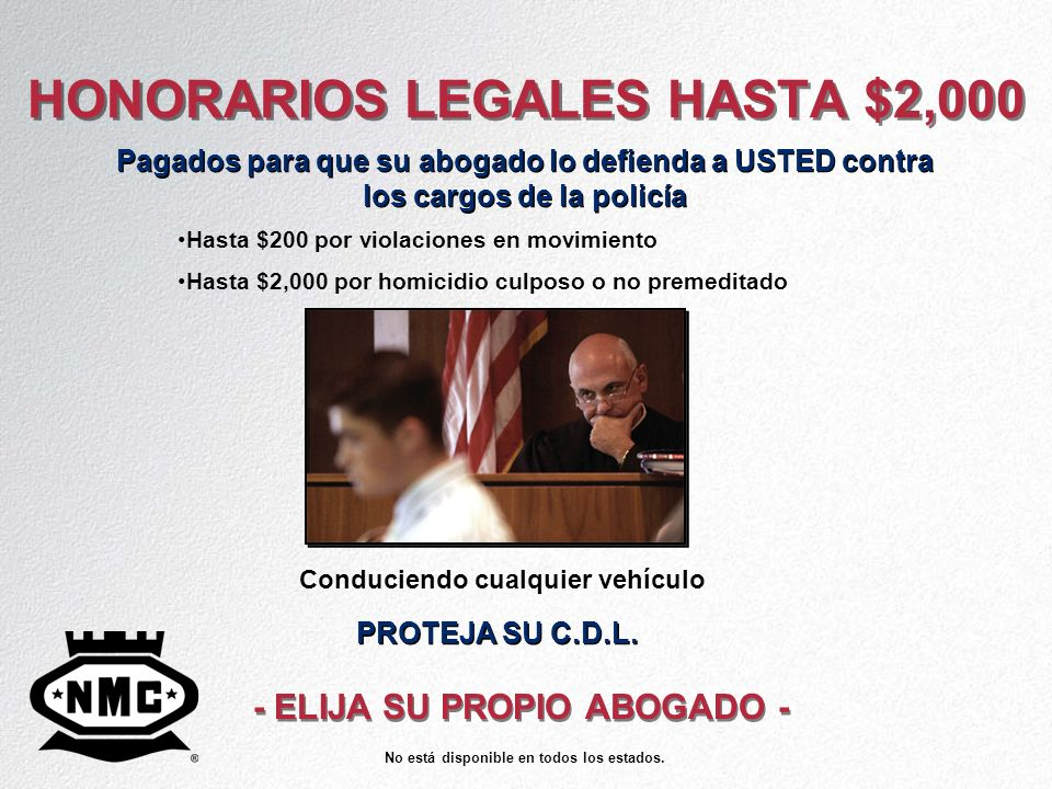 HONORARIOS LEGALES HASTA $2,000