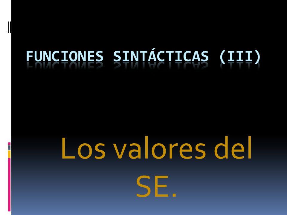 FUNCIONES SINTÁCTICAS (IiI)
