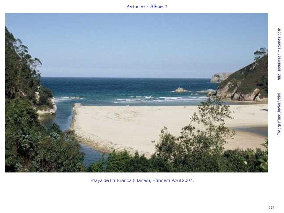 Playa de La Franca (Llanes), Bandera Azul 2007.