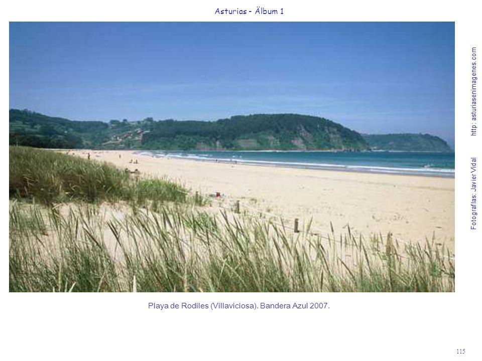 Playa de Rodiles (Villaviciosa). Bandera Azul 2007.