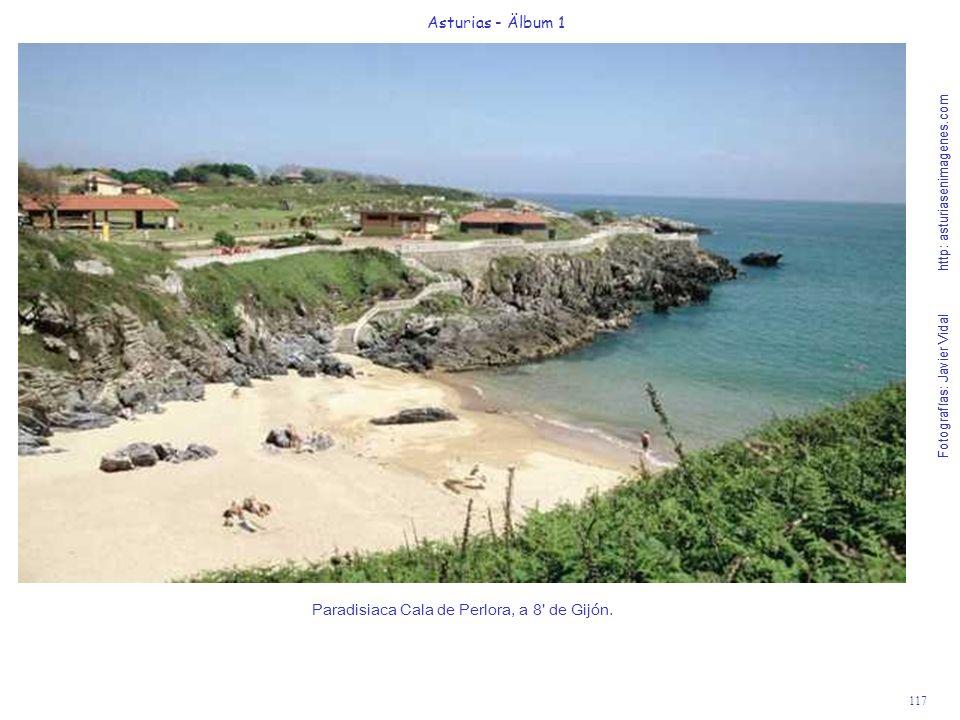 Paradisiaca Cala de Perlora, a 8 de Gijón.