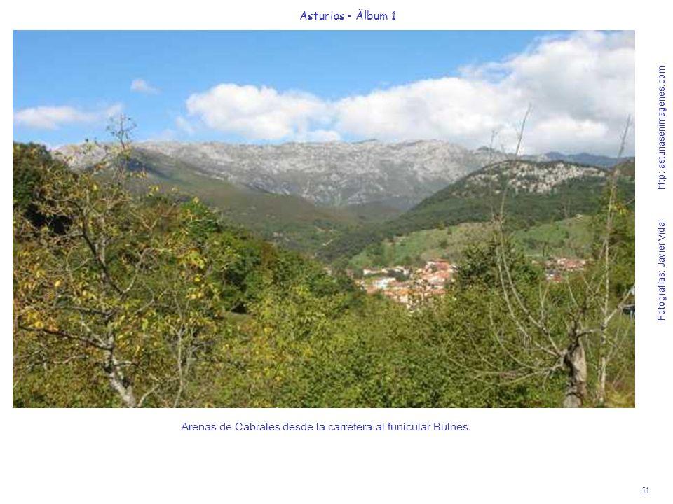 Arenas de Cabrales desde la carretera al funicular Bulnes.