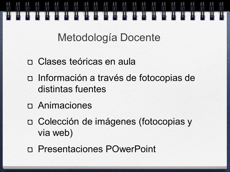 Metodología Docente Clases teóricas en aula