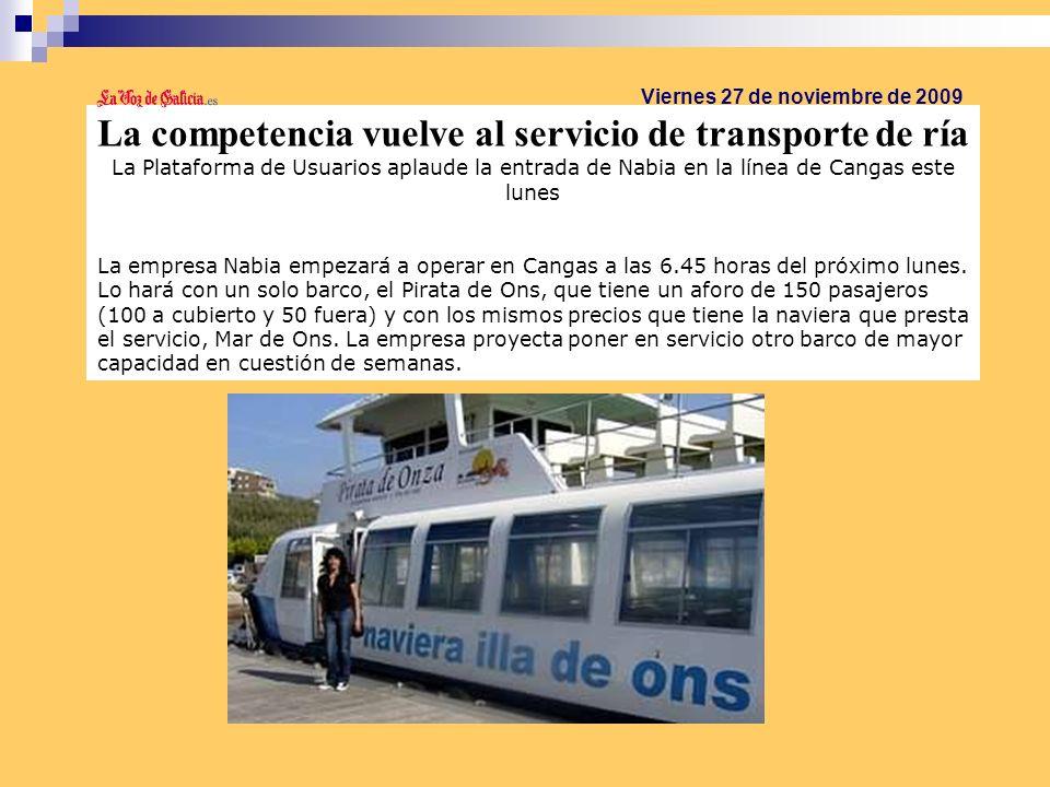 La competencia vuelve al servicio de transporte de ría