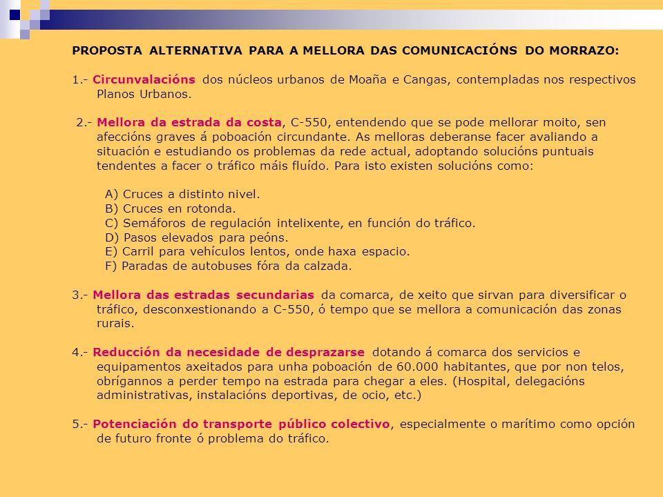 PROPOSTA ALTERNATIVA PARA A MELLORA DAS COMUNICACIÓNS DO MORRAZO: