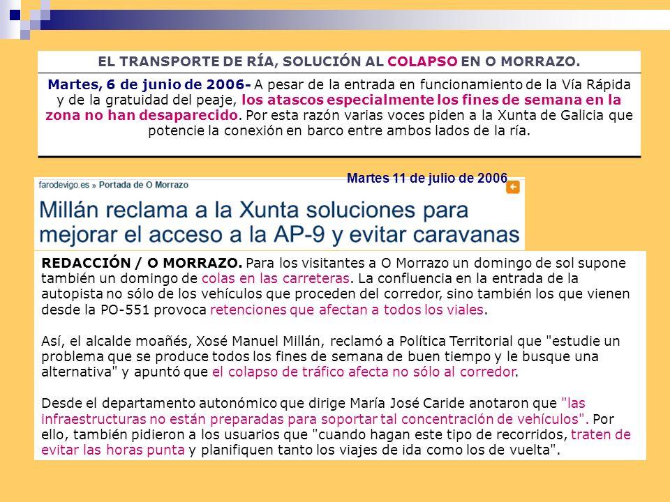 EL TRANSPORTE DE RÍA, SOLUCIÓN AL COLAPSO EN O MORRAZO.