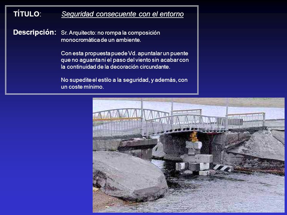 TÍTULO: Seguridad consecuente con el entorno