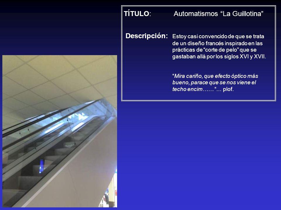 TÍTULO: Automatismos La Guillotina