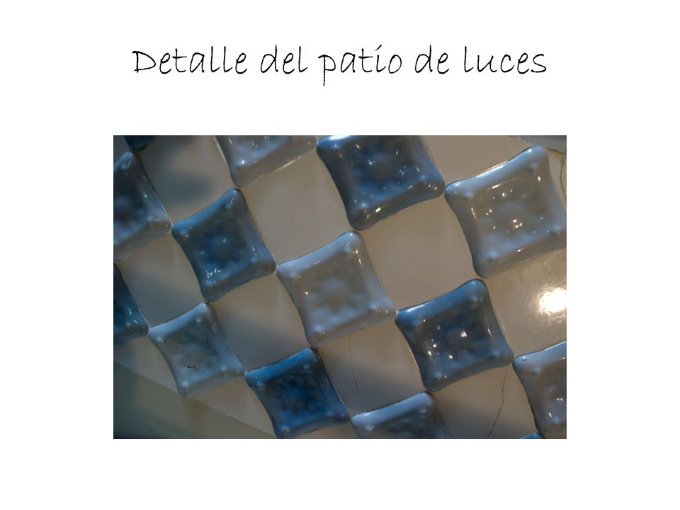 Detalle del patio de luces