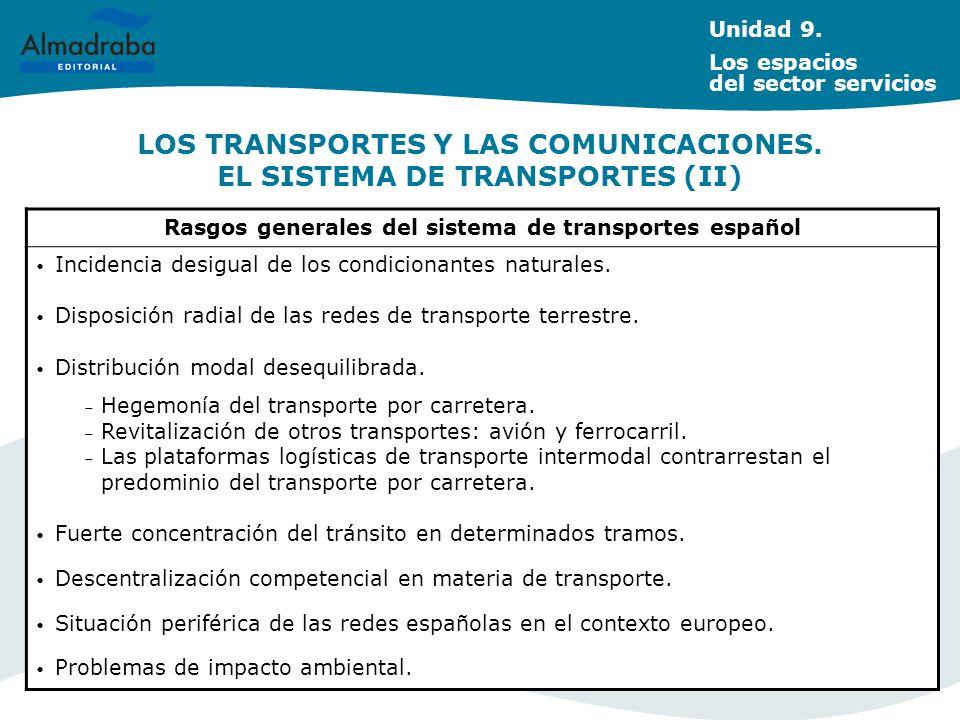 LOS TRANSPORTES Y LAS COMUNICACIONES. EL SISTEMA DE TRANSPORTES (II)