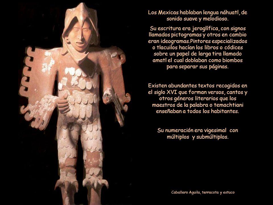 Los Mexicas hablaban lengua náhuatl, de sonido suave y melodioso.