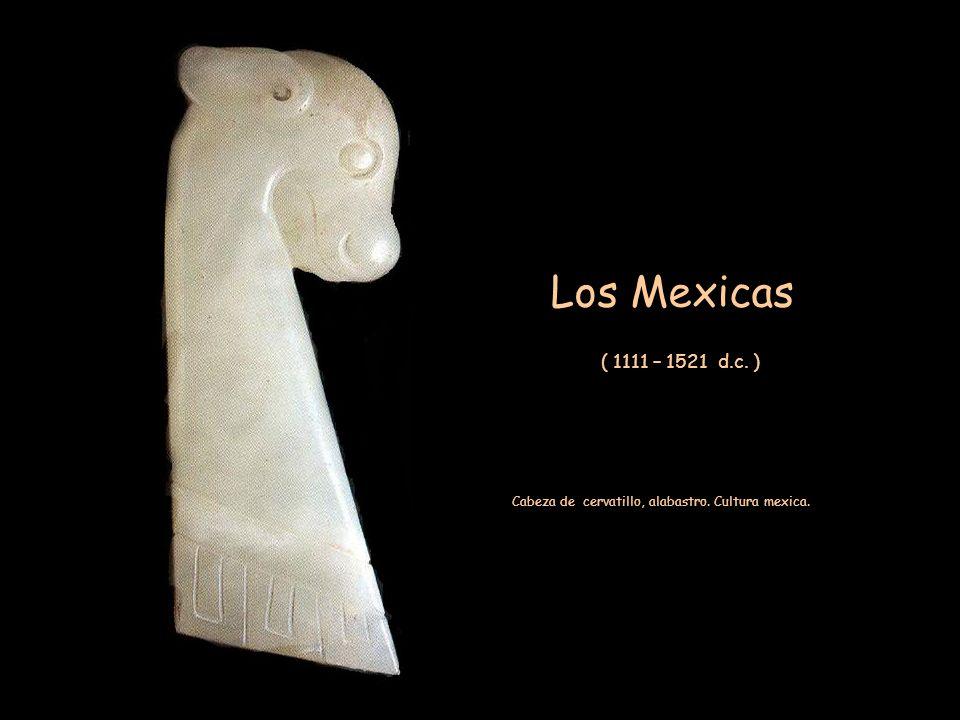 Cabeza de cervatillo, alabastro. Cultura mexica.
