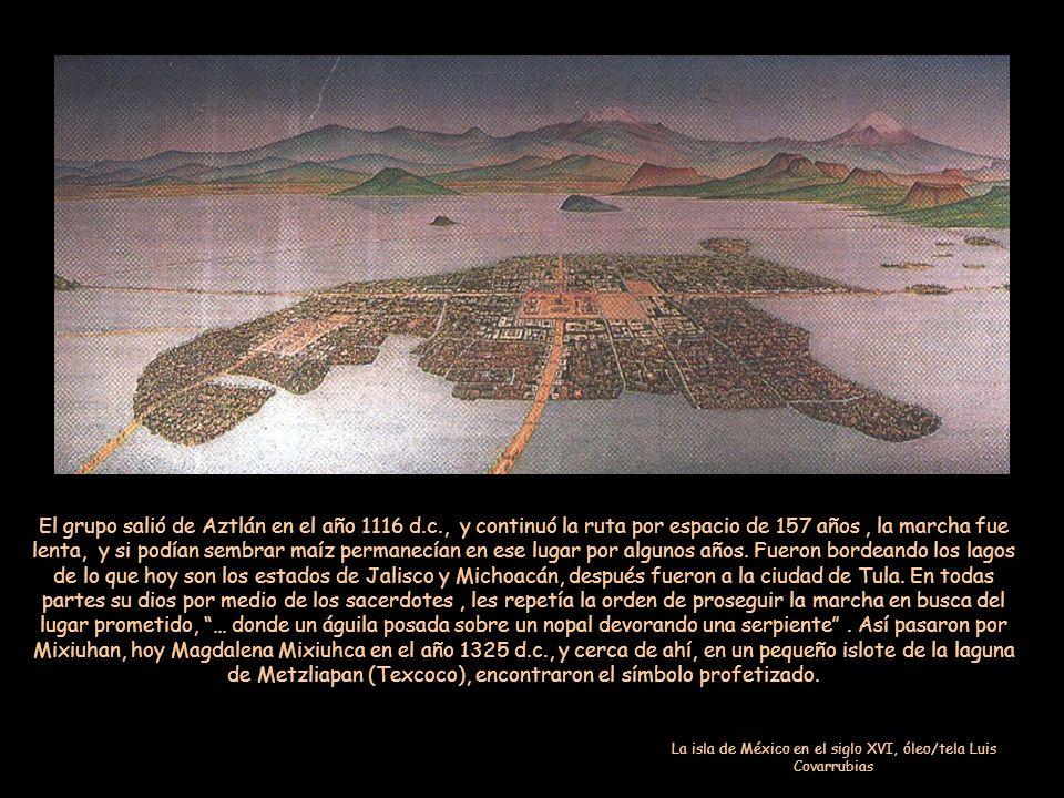 La isla de México en el siglo XVI, óleo/tela Luis Covarrubias