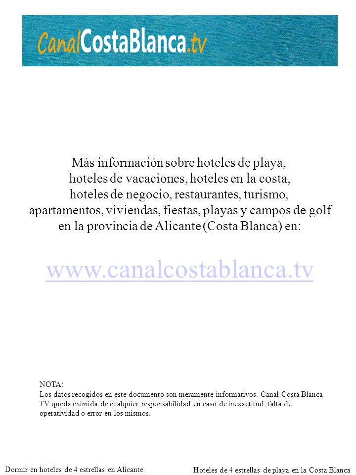 www.canalcostablanca.tv Más información sobre hoteles de playa,