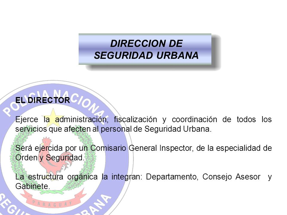 DIRECCION DE SEGURIDAD URBANA