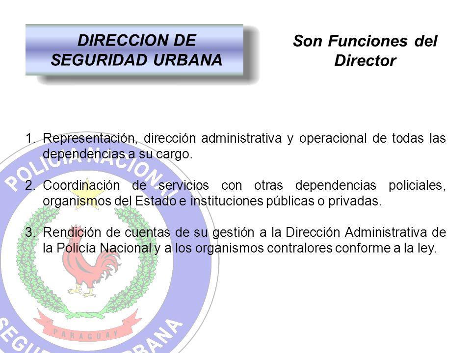 DIRECCION DE SEGURIDAD URBANA Son Funciones del Director