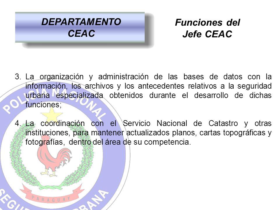 DEPARTAMENTO CEAC Funciones del Jefe CEAC