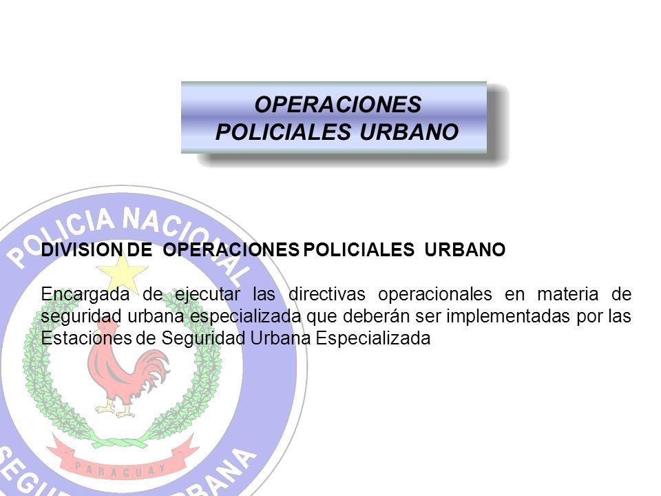 OPERACIONES POLICIALES URBANO