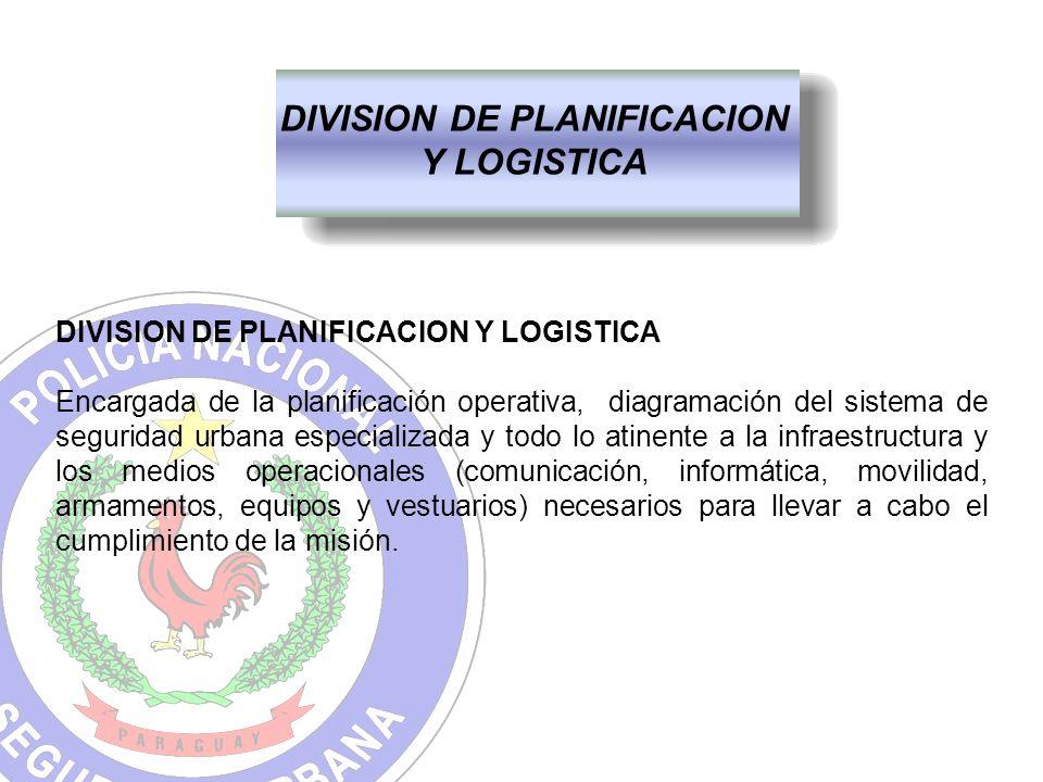 DIVISION DE PLANIFICACION Y LOGISTICA