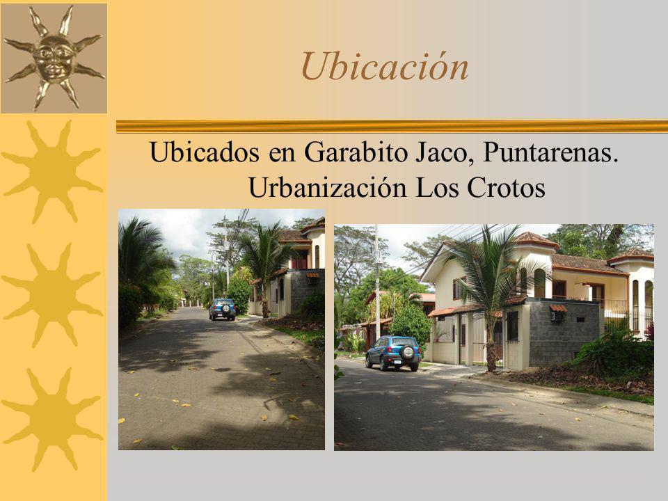 Ubicados en Garabito Jaco, Puntarenas. Urbanización Los Crotos