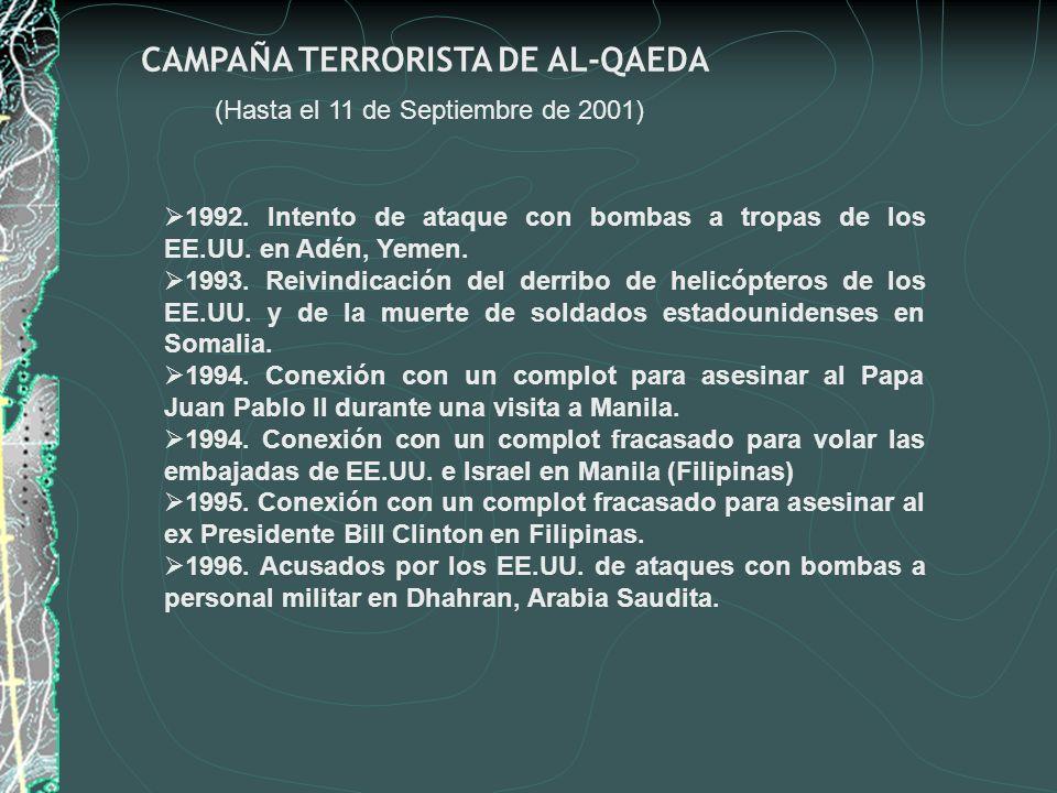 CAMPAÑA TERRORISTA DE AL-QAEDA