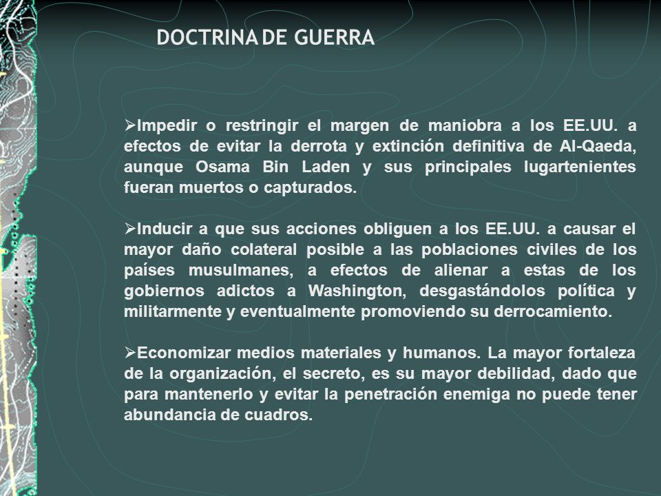 DOCTRINA DE GUERRA