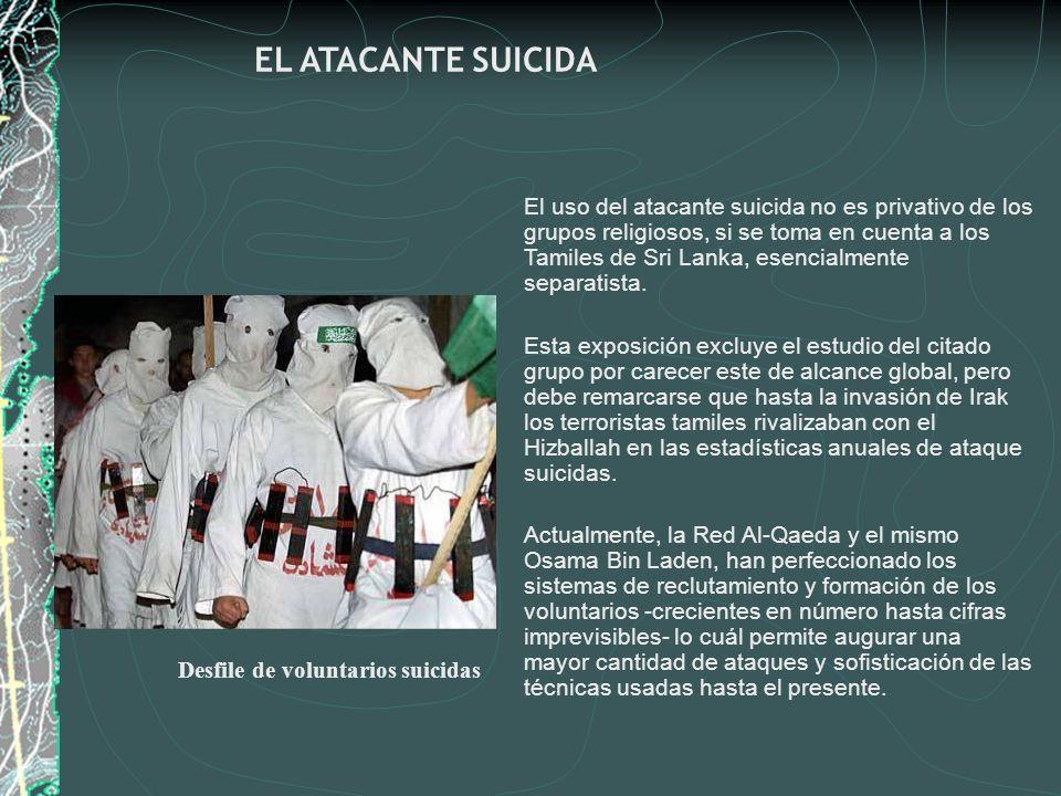 Desfile de voluntarios suicidas