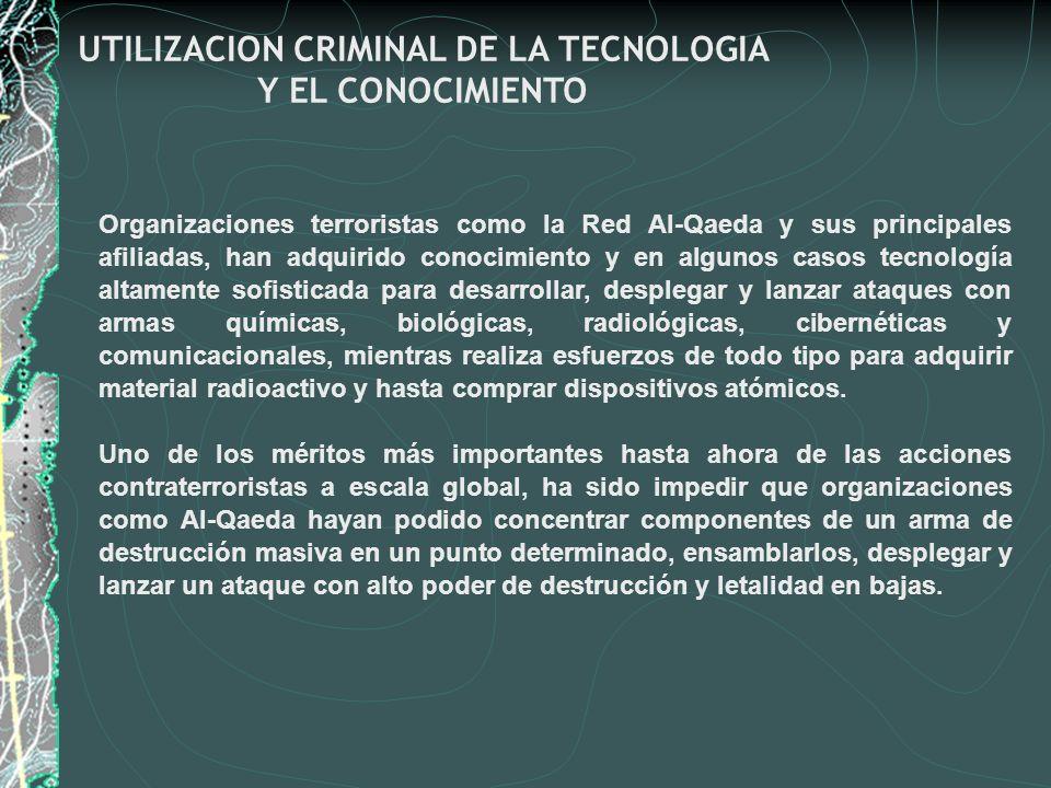 UTILIZACION CRIMINAL DE LA TECNOLOGIA Y EL CONOCIMIENTO