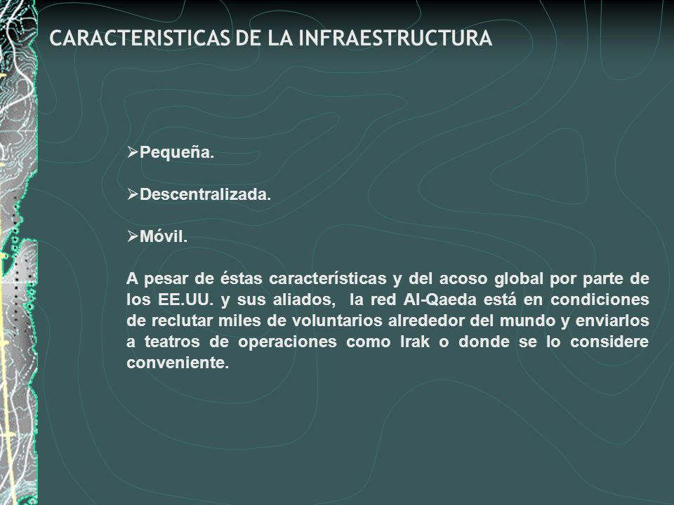 CARACTERISTICAS DE LA INFRAESTRUCTURA