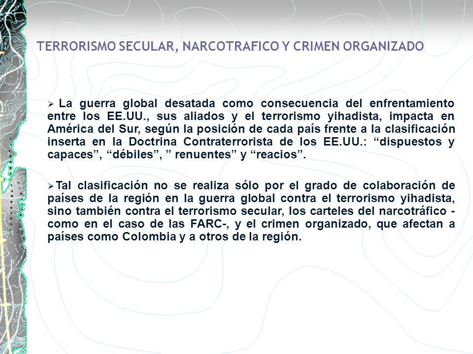 TERRORISMO SECULAR, NARCOTRAFICO Y CRIMEN ORGANIZADO