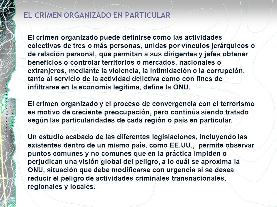 EL CRIMEN ORGANIZADO EN PARTICULAR