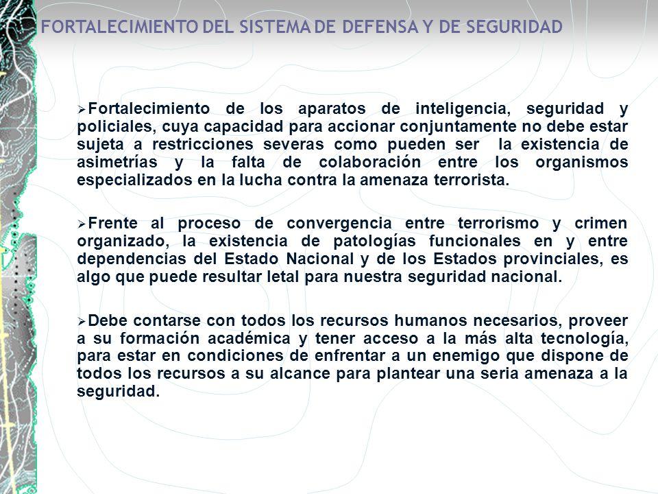 FORTALECIMIENTO DEL SISTEMA DE DEFENSA Y DE SEGURIDAD