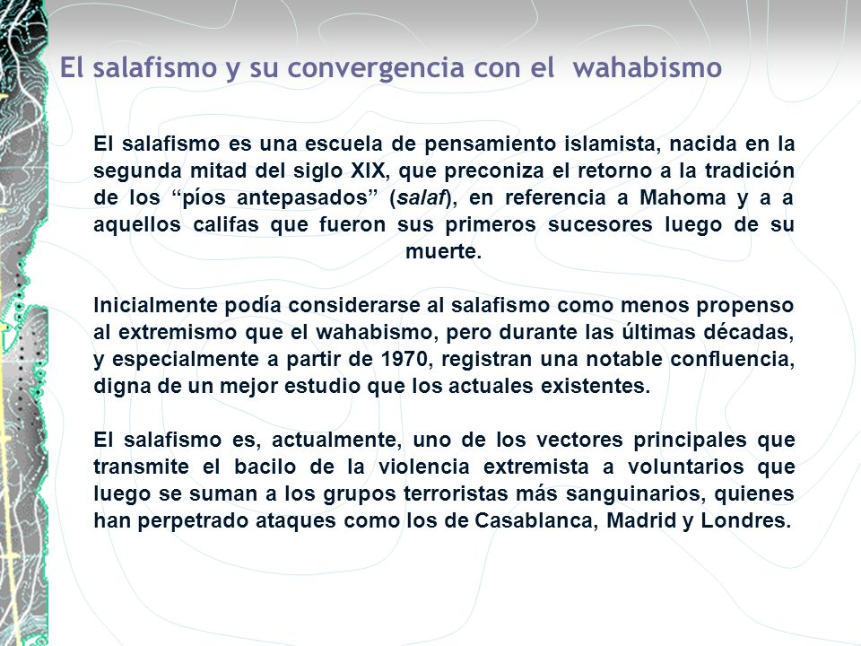 El salafismo y su convergencia con el wahabismo