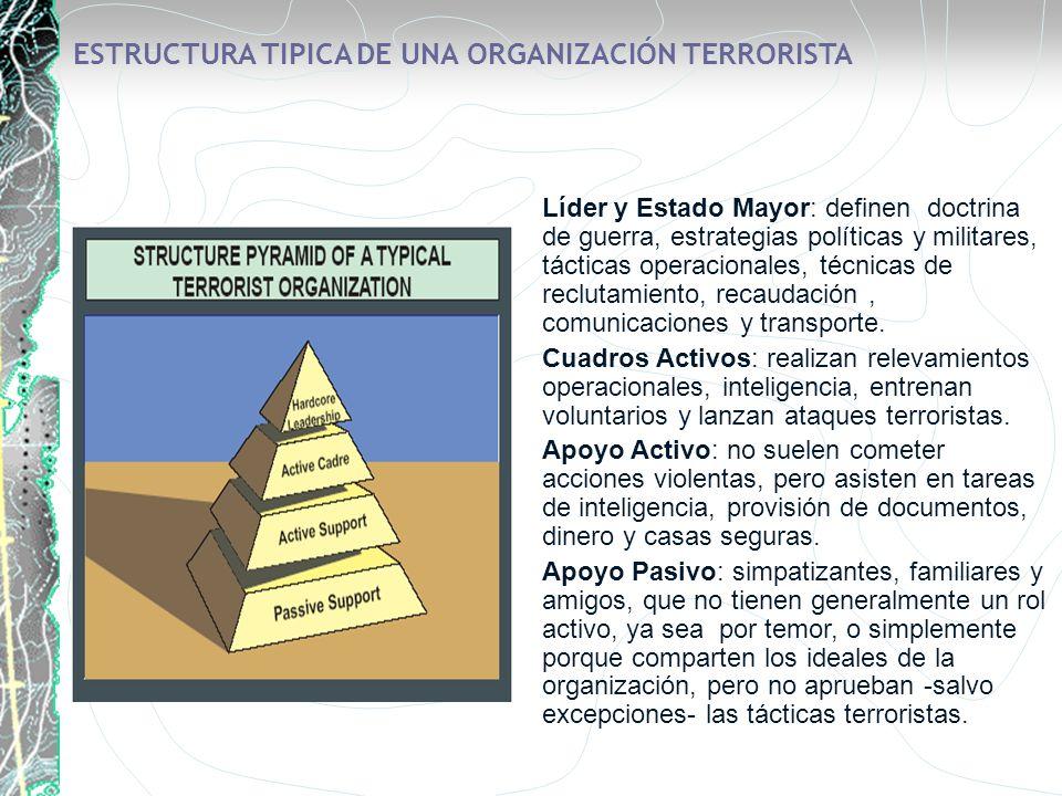 ESTRUCTURA TIPICA DE UNA ORGANIZACIÓN TERRORISTA