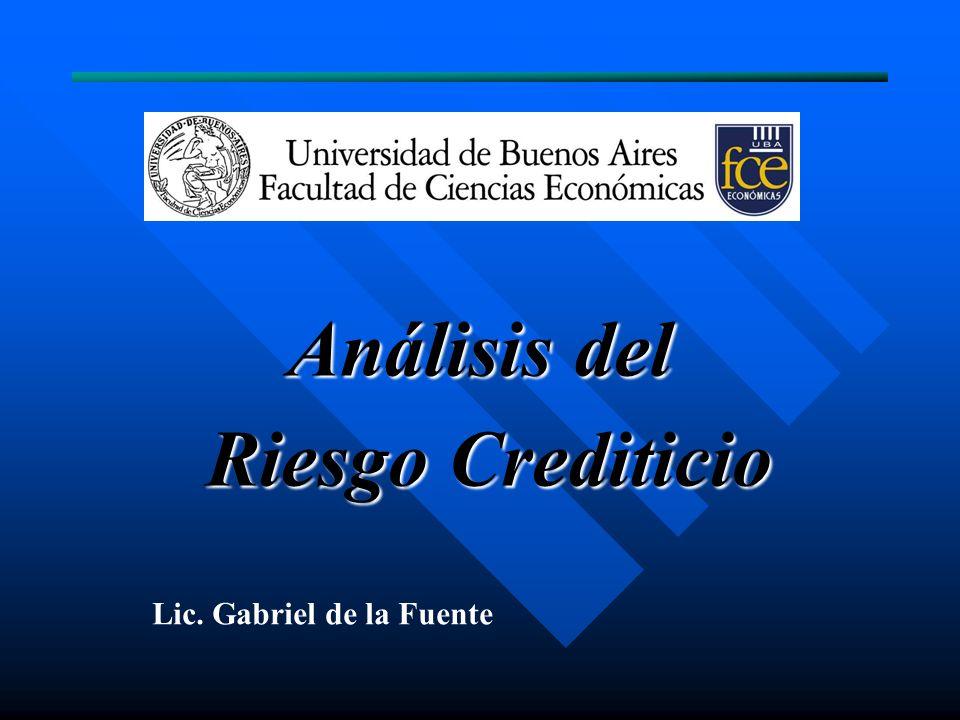 Análisis del Riesgo Crediticio