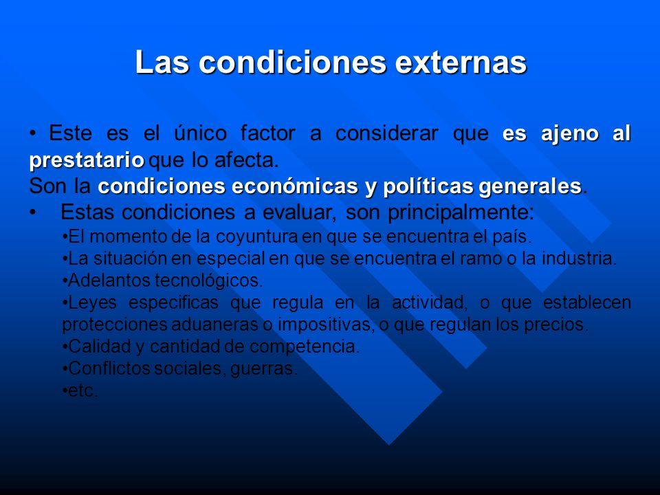 Las condiciones externas
