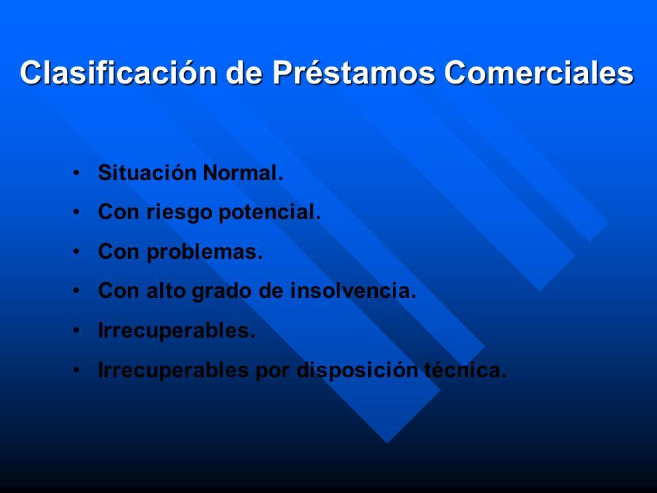 Clasificación de Préstamos Comerciales