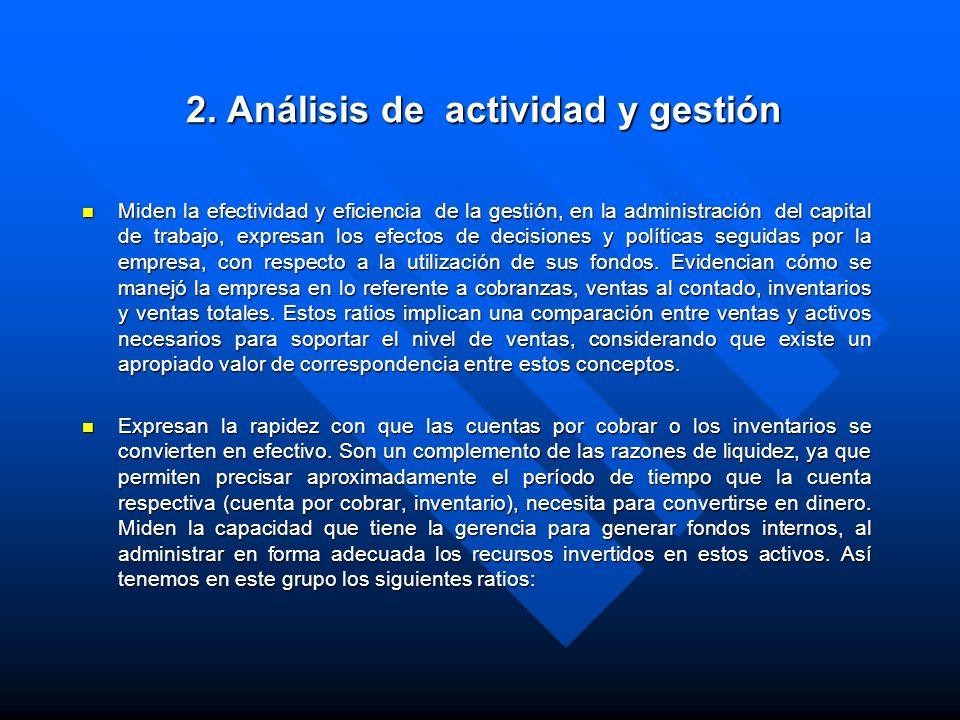 2. Análisis de actividad y gestión
