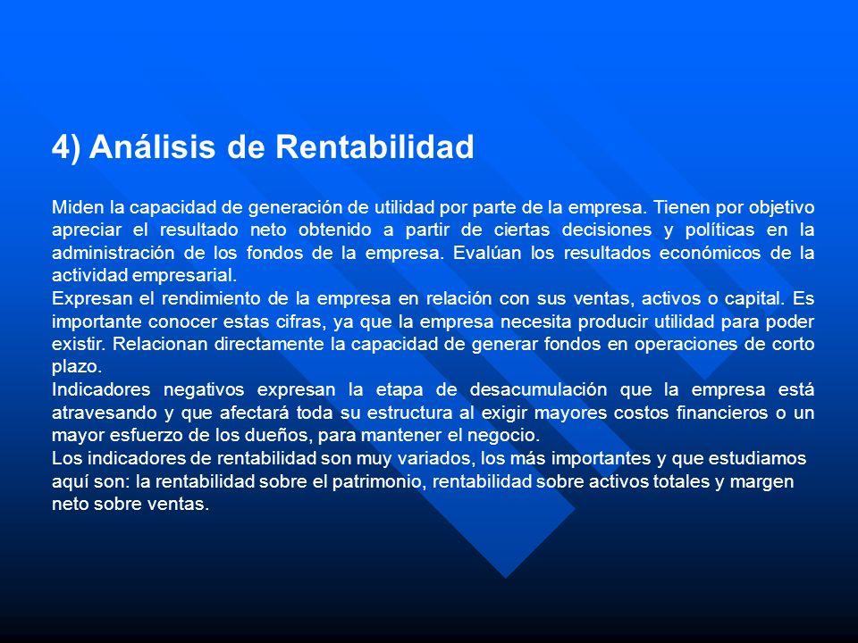 4) Análisis de Rentabilidad